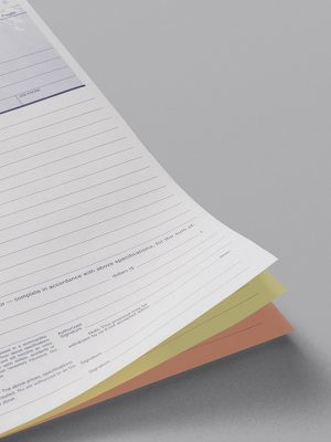 3 Part Carbonless Business Forms – Numbered